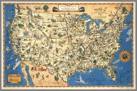 Greyhound Bus Routes Map by A Good Natured Map Of The United States Setting Forth The Services