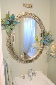 Decorating Ideas For Bathroom Mirrors The Mirror Not So Much The Accents