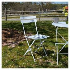 Ornate Metal Folding Bistro Chair Folding Metal Bistro Chairs Target