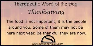 therapeutic word of the day thanksgiving nathan driskell
