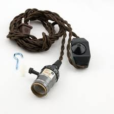 Cloth Cord Pendant Light Single Pearl Black Socket Pendant Light L Cord Kit W Dimmer