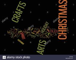 arts and crafts for christmas text background word cloud concept