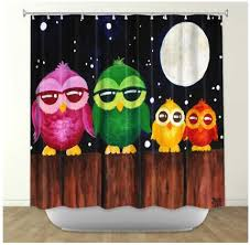 Owl Fabric Shower Curtain Owl Shower Curtains Shower Curtains With Owls Purple Owls Pink