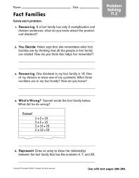 2nd grade math fact families worksheets 2nd grade printable