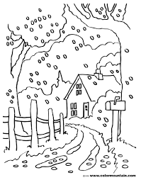 fall scene coloring pages autumn scene with scarecrow coloring