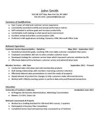 Resume Summary Of Qualifications Resume Summary With No Experience Resume For Your Job Application