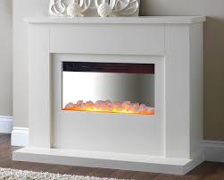 white electric fireplaces interior design