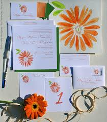 summer wedding invitations unique wedding invitations orange wedding invitations