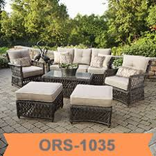 Circle Patio Furniture by Sector Shape Patio Wicker Semi Circle Sectional Broyhill Outdoor