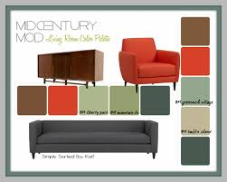 Furniture Color by Mid Century Modern Color Palette 9895