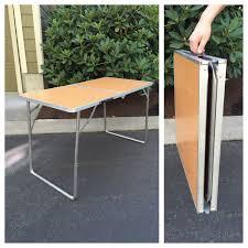metal folding table outdoor vintage metal folding table portable table folding travel table