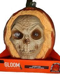 fiber optic halloween pumpkin decorations amazon com animated skull face halloween pumpkin jack o lantern