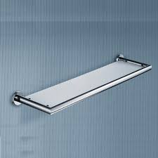 Bathroom Wall Mounted Shelves Impressive Glass Wall Shelf Bathroom Shelves Mounted Towel Racks