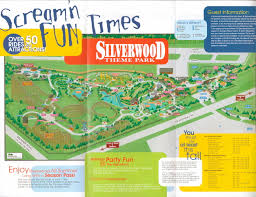 Six Flags New England Map by Newsplusnotes From The Vault Silverwood Theme Park 2001 Guide Map