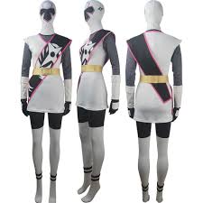 ninja halloween costume kids women power rangers ninja steel white ranger suit cosplay hayley
