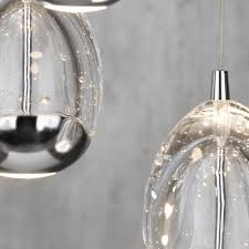 Glass Droplet Ceiling Light by Bulla 3 Light Ceiling Light Spiral Cluster Pendant Chrome From