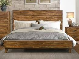 Platform Bed Wood Sorrel Rustic Solid Wood Platform Bed By Homelegance Usa