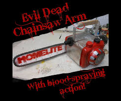 chainsaw halloween blood spraying evil dead chainsaw arm 23 steps with pictures