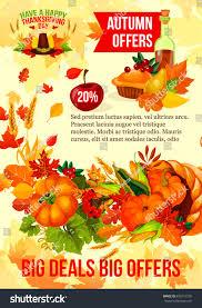 thanksgiving day sale banner autumn season stock vector 695713339