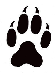 Paw Print Template by Wildlife Stencils Free Paw Prints Template Free Printable Animal