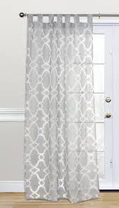 Tab Top Sheer Curtain Panels Kosas Home Dara Geometric Sheer Tab Top Single Curtain Panel