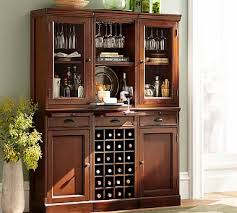 Glass Door Bar Cabinet 6 Piece Modular Bar Wall Unit 2 Wood Door Cabinet U0026 1 Wine Grid