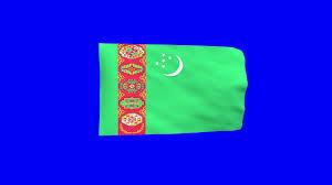 Flag Of Turkmenistan Free Hd Video Backgrounds U2013 Turkmenistan Flag Waving On Blue