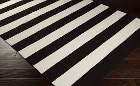 Black White Area Rug The Significance Of Black And White Striped Rug Bellissimainteriors
