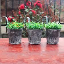 1 3 10pcs vintage metal hanging planters garden pot flower