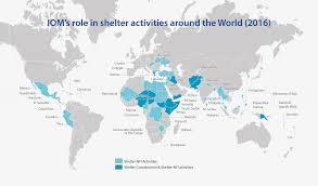 Greece On World Map Iom In Shelter International Organization For Migration