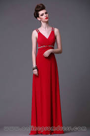 free shipping straps handmade beaded chiffon red prom gowns on