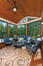 three season porch with eze breeze windows open with tongue and