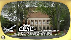 live from winthrop university in south carolina with bernie