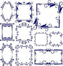 Set of 10 decorative frames — Stock Vector © antonshpak
