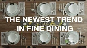 Fine Dining Table Set Up by Amazon Kitchen Shorts The Newest Trend In Fine Dining Youtube