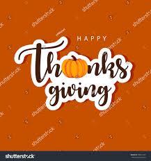 happy thanksgiving day easy edit vector stock vector 708013972
