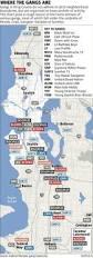 Las Vegas Gang Map Seattle Gang Map Map Of Seattle Gang Washington Usa