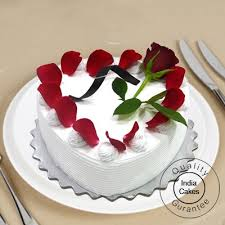 cake photos order vanilla cake 1 kg heart shaped online indiacakes
