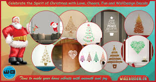 christmas wall stickers for a cheerful ambiance walldesign christmas wall stickers for a quick makeover