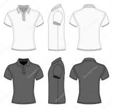 t shirt design template mens polo shirt and t shirt design templates stock vector