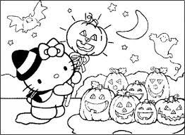 imagenes de halloween para imprimir y colorear dibujos infantiles de happy halloween con kitty para colorear