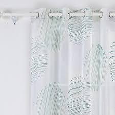 voilage chambre fille doconovo lot de 2 rideaux voilages aspect imprimé à oeillets