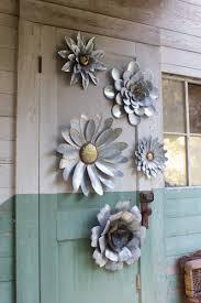 metal flowers set of 5 metal flower wall hangings