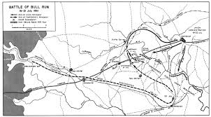 Civil War States Map Map Of The Battle Of Bull Run American Civil War 16 21 July