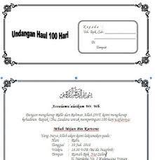 template undangan haul kumpulan contoh undangan tahlil lengkap haul 40 hari 100 hari dan