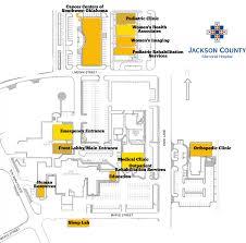 hospital map jackson county memorial hospital