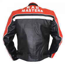 motorbike coats leather motorcycle motorbike jacket cowhide black red white