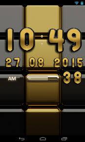 digi clock widget apk digi clock black gold widget android apps on play