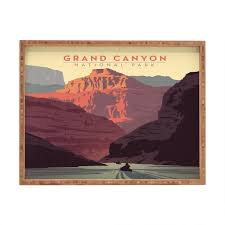 Home Usa Design Group Anderson Design Group Grand Canyon National Park Rectangular Tray
