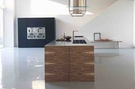 magnificent long brown minimalist kitchen island design with